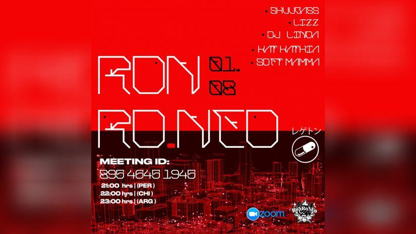 Ronroneo presenta una gran fiesta de DJS por zoom