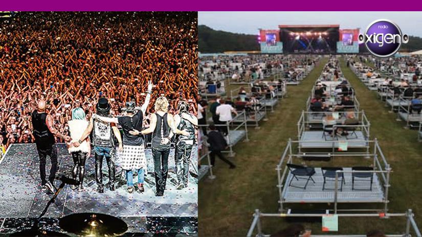 Las imágenes del primer concierto con distanciamiento social que dan la vuelta al mundo