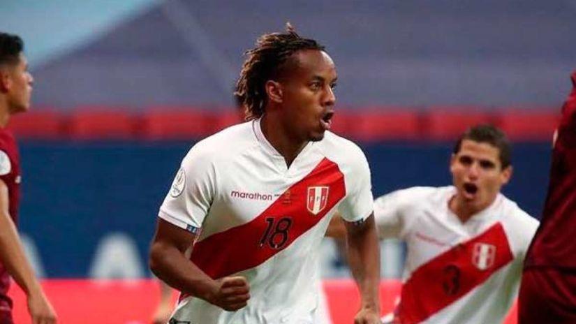 André Carrillo no jugará en los partidos con Chile, Bolivia y Argentina