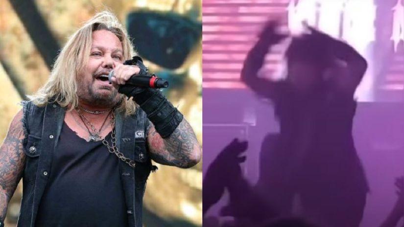 Vince Neil de Mötley Crüe se cayó del escenario y se rompió las costillas