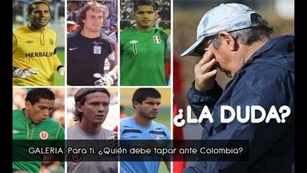 ¿Quién debe ser el portero titular ante Colombia?