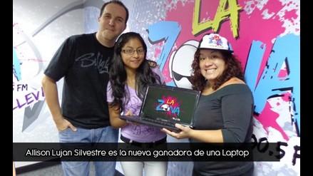 Alisson Lujan Silvestre es la nueva ganadora de la laptop