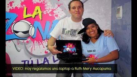 Chiki y Canchita regalaron en la mañana otra laptop