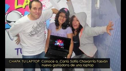 Carla Sofía Chavarría se llevó su laptop