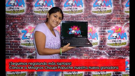 Milagros Chaupi Popuche Chapo su laptop