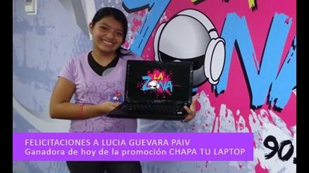 Lucia Guevara Chapo su laptop