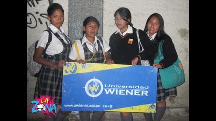 A la salida con La Zona y La Universidad Wiener