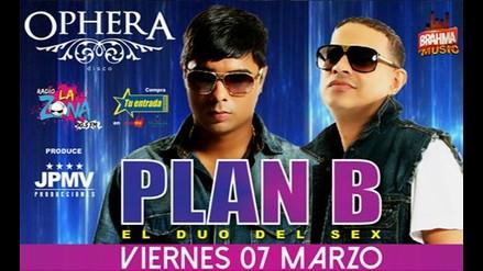PLAN B EN OPHERA DISCO ESTE VIERNES 07 DE MARZO