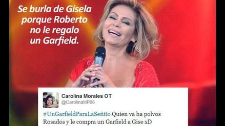 Se burlan de Gisela porque Roberto no le regaló un Garfield
