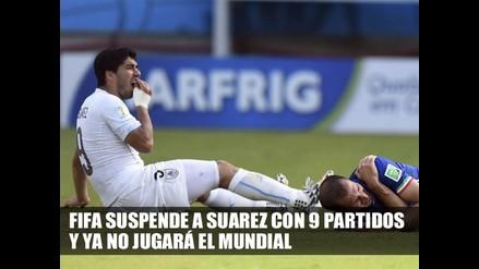 FIFA CASTIGA CON 9 PARTIDOS A LUIS SUAREZ Y SE VA DEL MUNDIAL