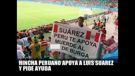 HINCHA PERUANO APOYA A LUIS SUÁREZ Y PIDE AYUDA