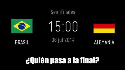 BRASIL VS ALEMANIA POR UN PASO A LA FINAL