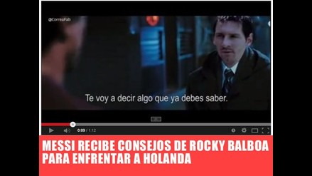 VIDEO: MESSI RECIBE EL APOYO DE ROCKY BALBOA