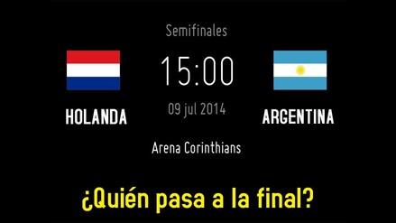 HOLANDA Y ARGENTINA LUCHAN POR SU PASE A LA FINAL