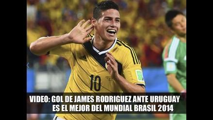 VIDEO: GOL DE JAMES RODRÍGUEZ EN EL MEJOR DEL MUNDIAL