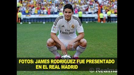 FOTOS: JAMES  FUE PRESENTADO EN EL REAL MADRID