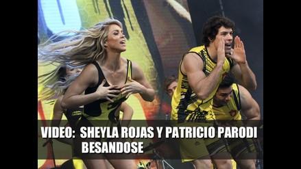 Sheyla Rojas y Patricio Parodi besándose  - VIDEO