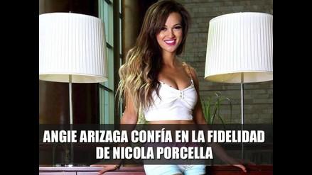 Angie Arizaga confía en fidelidad de Nicola Porcella