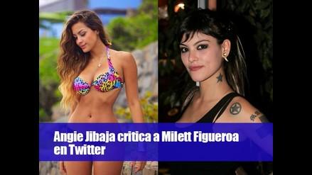 Angie Jibaja critica a Milett Figueroa en Twitter