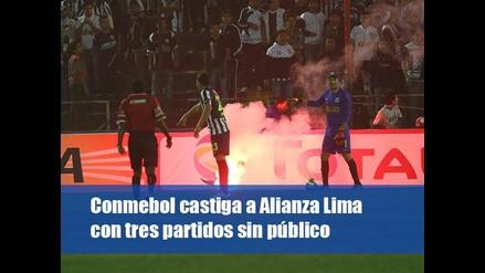 Conmebol castiga a Alianza Lima con tres partidos sin público