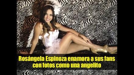 Rosangela Espinoza enamora a sus fans con fotos vestida de ángel