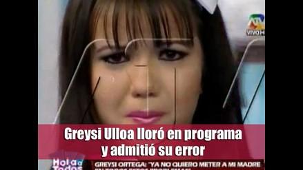Greysi Ulloa lloró en programa y admitió error