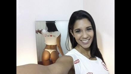 Rocío Miranda más hincha que nunca de Universitario