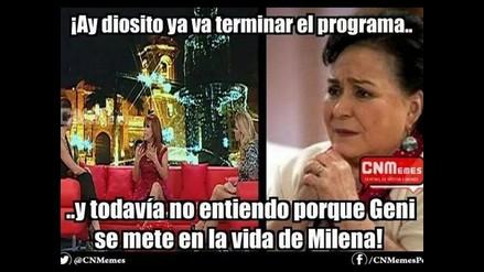 Mira los Memes del encuentro entre Milena Zárate y Geni Alves