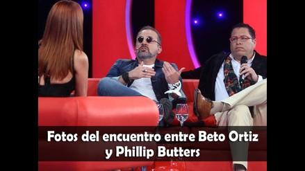 Fotos del encuentro entre Beto Ortiz y Phillips Butters