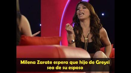 Milena Zarate espera que hijo de Greysi sea de su esposo