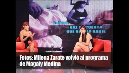 Milena Zarate volvió al programa de Magaly Medina
