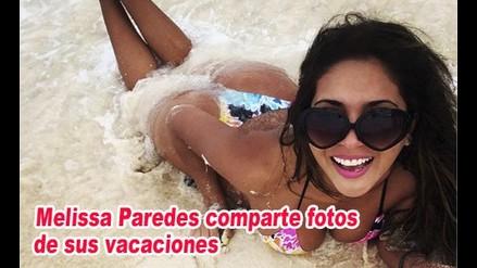 Melissa Paredes comparte fotos de sus vacaciones en la playa