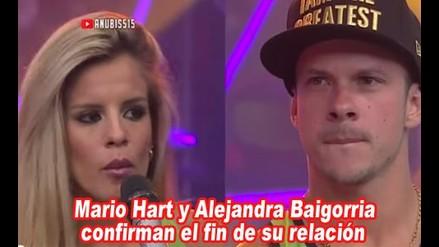 Mario Hart y Alejandra Baigorria terminaron su relación