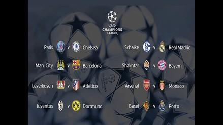 Champions League: Así quedaron los duelos de octavos de final