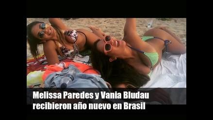 Melissa Paredes y Vania Bludau recibieron 2015 en Brasil