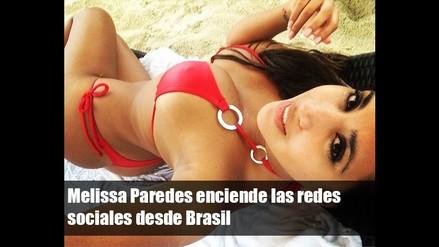 Melissa Paredes enciende las redes sociales desde Brasil