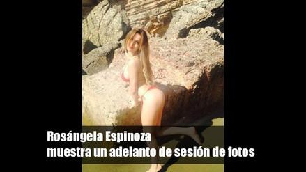 Rosángela Espinoza muestra un adelanto de sesión de fotos