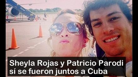 Sheyla Rojas y Patricio Parodi sí se fueron juntos a Cuba