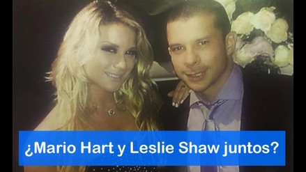 ¿Mario Hart y Leslie Shaw juntos?