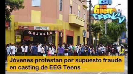 EEG Teens: jóvenes protestan por supuesto fraude en casting