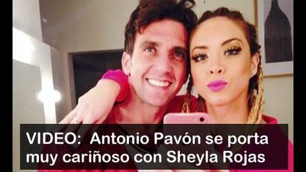 VIDEO: Antonio Pavón se luce muy cariñoso con Sheyla Rojas