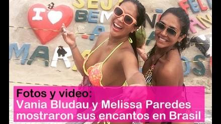 Vania Bludau y Melissa Paredes mostraron sus encantos en Brasil