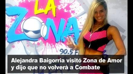 Alejandra Baigorria visitó La Zona y dijo que no volverá a Combate