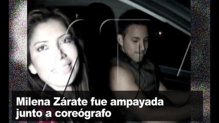 Milena Zárate fue ampayada con coreógrafo
