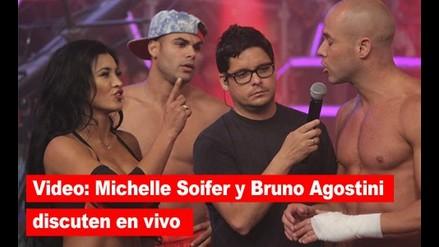 Combate: Michelle Soifer y Bruno Agostini discutieron en vivo