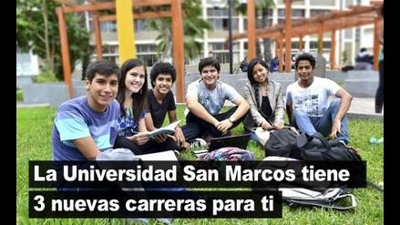 La Universidad San Marcos tiene 3 nuevas carreras para ti