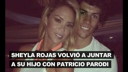 Sheyla Rojas volvió a juntar a su hijo con Patricio Parodi