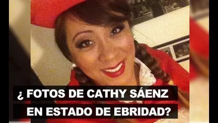 ¿Cathy Sáenz en estado de ebriedad?