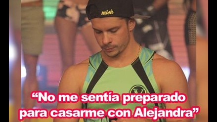 Mario Hart: No estaba preparado para casarme con Alejandra