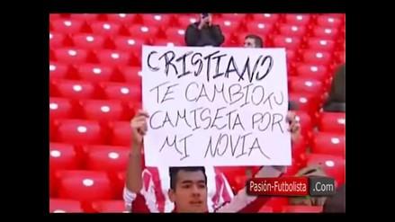 Hincha ofrece a su novia por camiseta de Cristiano Ronaldo